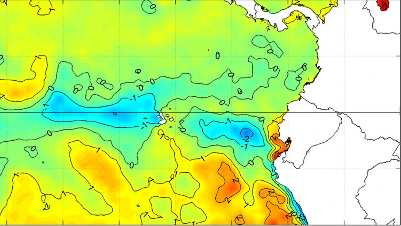 Condiciones oceanográficas en la región 1-2, posible desarrollo e impacto