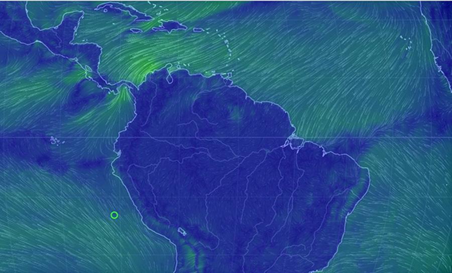 Condiciones oceanográficas: Perturbación meteorológica y lluvias en el litoral ecuatoriano