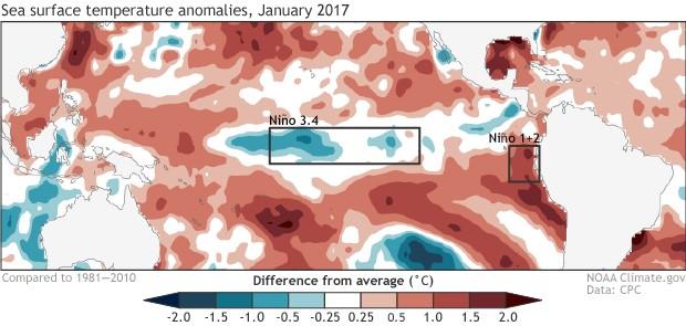 Condiciones oceanográficas: Perturbación meteorológica