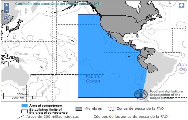 Las flotas pesqueras de aguas distantes, oceanografía, las áreas de pesca, organizaciones y principios de su manejo.