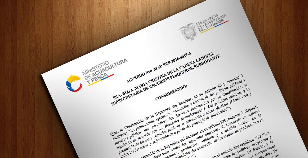 Acuerdo Ministerial 2018-0017-A