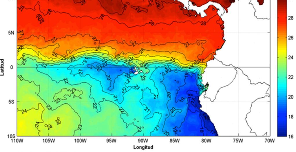 Un nuevo proceso de afloramiento de la Corriente de Humboldt en agua costeras ecuatorianas.