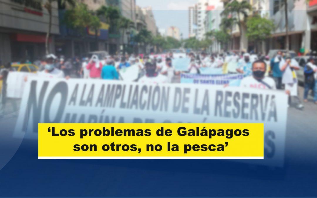 'Los problemas de Galápagos son otros, no la pesca'