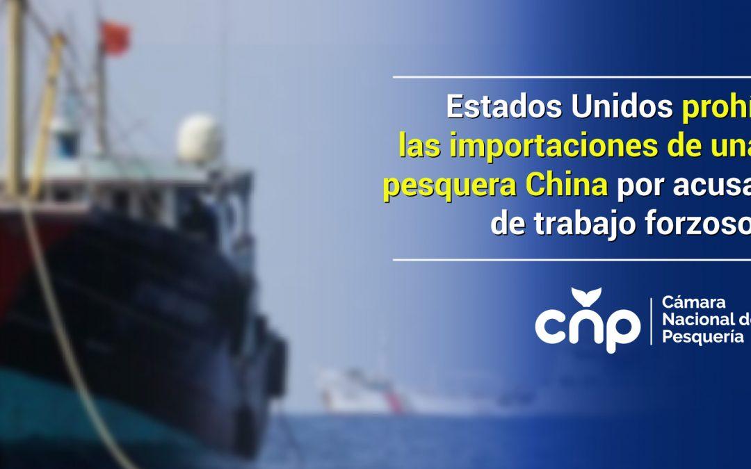 Estados Unidos prohíbe las importaciones de una flota pesquera China por acusaciones de trabajo forzoso