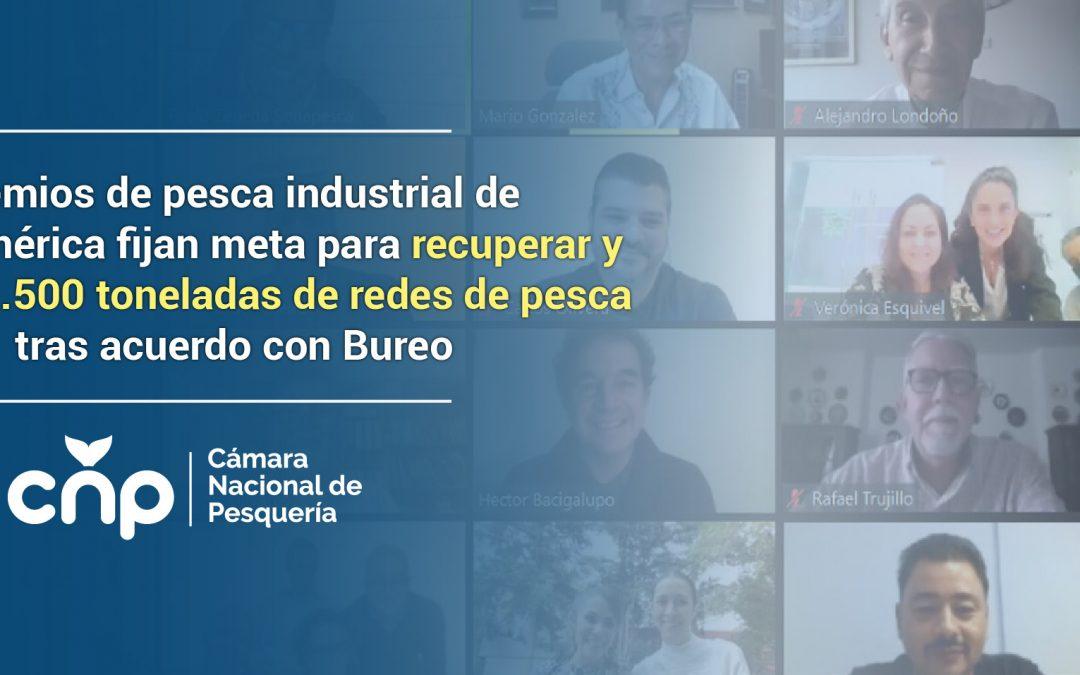 Gremios de pesca industrial de Latinoamérica fijan meta para recuperar y reciclar 1.500 toneladas de redes de pesca tras acuerdo con Bureo